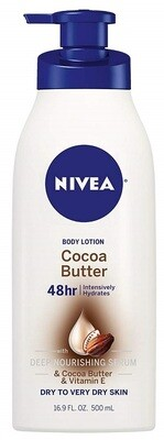 Nivea Cocoa Butter Body Lotion for Dry Skin To Very Dry Skin, 16.9 fl Ounce
