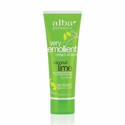 Alba Botanica Very Emollient Coconut Lime Shave Cream, 8 Ounce