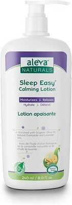 Aleva Naturals Baby Sleep Easy Calming Lotion, Lavender and Chamomile, 8 fl Ounce