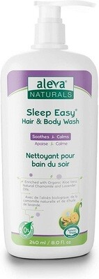 Aleva Naturals Sleep Easy Hair and Body Wash for Babies, 8 fl Ounce