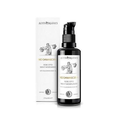 Alteya Organics BioDamascena Night Face Moisturizer Anti-Aging, 1.7 fl Ounce