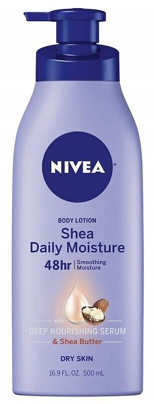 Nivea Shea Daily Moisture Body Lotion for Dry Skin, 16.9 fl Ounce