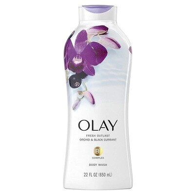Olay Fresh Outlast Body Wash, Orchid and Black Currant, 22 fl Ounce
