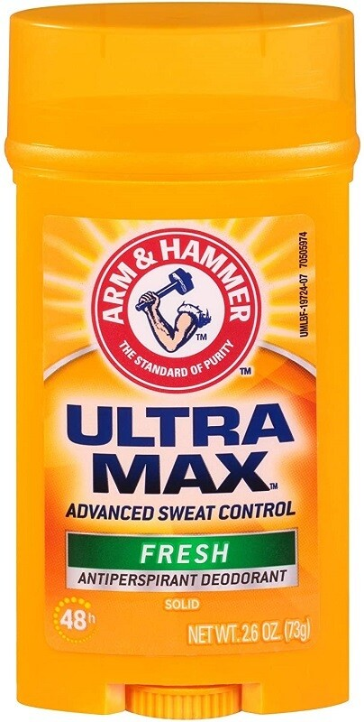 Arm & Hammer Ultramax Solid Antiperspirant Deodorant Wide Stick, Fresh Scent 2.6 Ounce