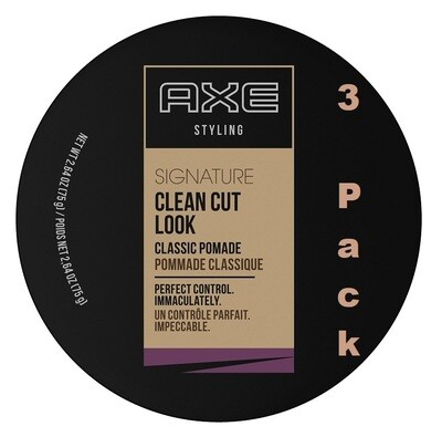 Axe Pomade Clean Cut Look Classic Hair, 2.64 Ounce, Pack of 3