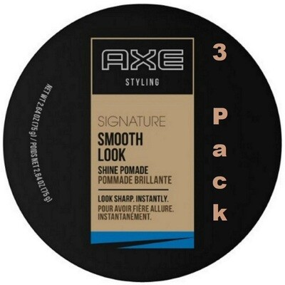 Axe Styling Smooth Look Shine Hair Pomade, 2.64 Ounce, Pack of 3