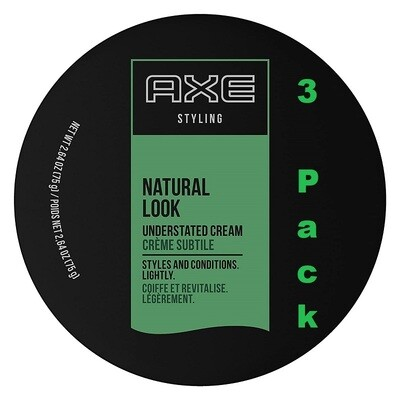 Axe Natural Look Hair Understated Cream, 2.64 Ounce, Pack of 3