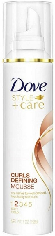 Dove Style+Care Curls Defining Mousse, Soft Hold, 7 Ounce