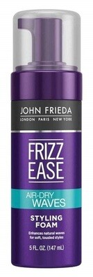 John Frieda Frizz Ease Dream AirDry Waves Hair Style Foam, 5 Ounce