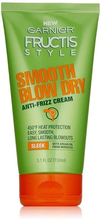 Garnier Fructis Style Smooth Blow Dry Anti-Frizz Cream, 5.1 fl Ounce