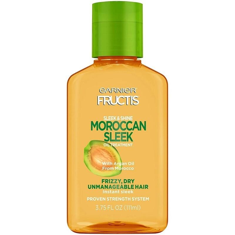 Garnier Fructis Sleek & Shine Moroccan Sleek Oil Treatment, Frizzy, Dry Hair, 3.75 fl Ounce