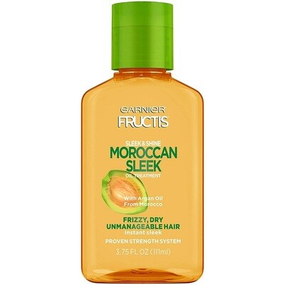 Garnier Fructis Sleek & Shine Moroccan Sleek Oil Treatment, Frizzy, Dry Hair, 3.75 fl Ounce