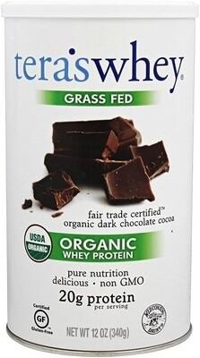 Tera's Whey Organic Protein, Dark Chocolate, 12 Ounce