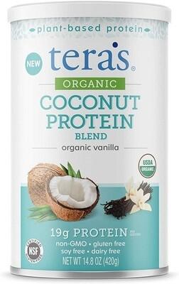 Tera's whey Organic Coconut Protein Blend, Vanilla, 14.8 Ounce