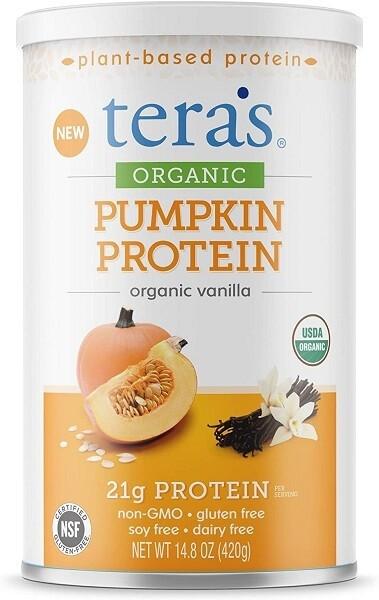Teras Whey Organic Pumpkin Protein, Vanilla, 14.8 Ounce
