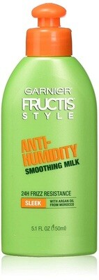 Garnier Fructis Style Anti-Humidity Smoothing Milk, Sleek, 5.1 fl Ounce