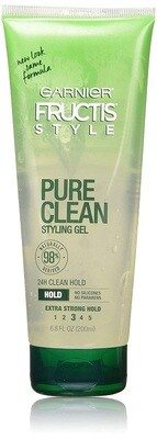 Garnier Fructis Style Pure Clean Hair Styling Gel, 6.8 Ounce