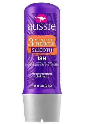 Aussie Miracle Smooth 3 Minute Miracle Conditioner for Frizzy Hair, 8 fl Ounce