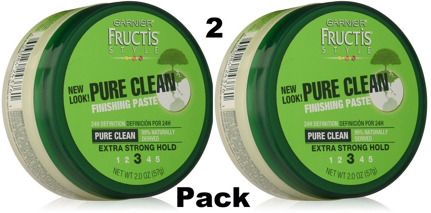 Garnier Fructis Style Pure Clean Hair Finishing Paste, 2 Ounce, Pack of 2