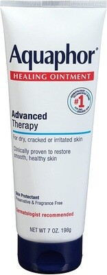 Aquaphor Healing Ointment Dry Skin Moisturizer, 7 Ounce