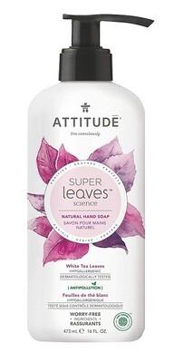 Attitude Super Leaves, Hypoallergenic Hand Soap, White Tea Leaves, 16 fl Ounce