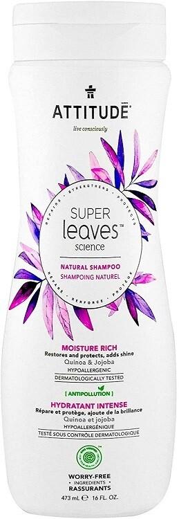 Attitude Super Leaves, Hypoallergenic Moisture Rich Hair Shampoo, Quinoa & Jojoba, 16 fl Ounce