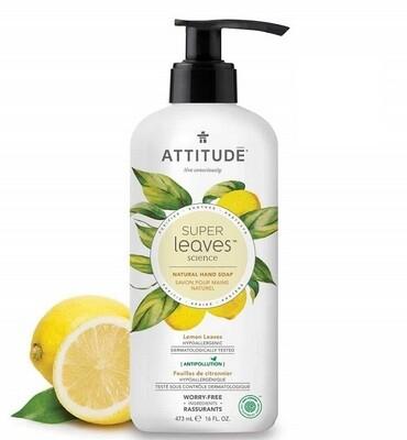 Attitude Super Leaves, Hypoallergenic Hand Soap, Lemon Leaves, 16 fl Ounce
