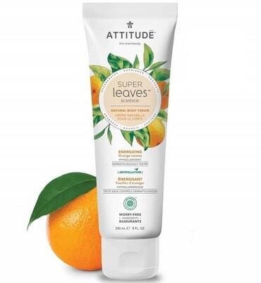 Attitude Super Leaves, Hypoallergenic Energizing Body Cream, Orange Leaves, 8 fl Ounce