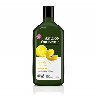 Avalon Organics Clarifying Lemon Hair Shampoo, 11 Ounce