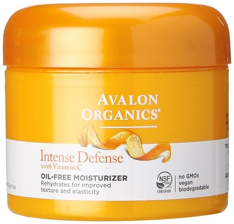 Avalon Organics Intense Defense with Vitamin C, Oil Free Moisturizer, 2 Ounce