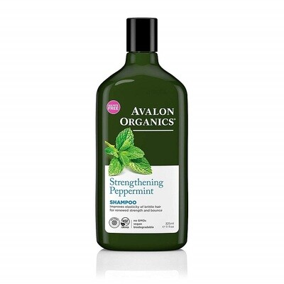 Avalon Organics Strengthening Peppermint Hair Shampoo, 11 Ounce