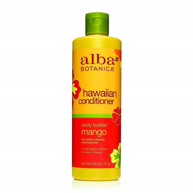 Alba Botanica Body Builder Mango Hawaiian Hair Conditioner, 12 Ounce