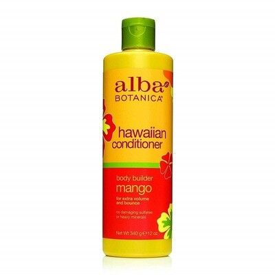 Alba Botanica Body Builder Mango Hawaiian Hair Conditioner, 12 Ounce