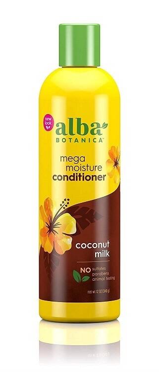 Alba Botanica Hawaiian Mega Moisture Hair Conditioner, Coconut Milk, 12 Ounce