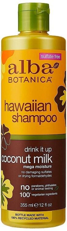 Alba Botanica Hawaiian Hair Shampoo, Coconut Milk, 12 Ounce