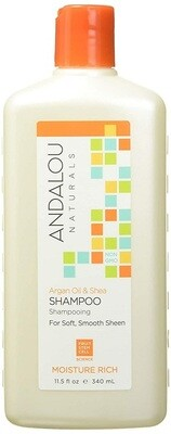 Andalou Naturals Argan Oil & Shea Moisture Rich Hair Shampoo, 11.5 Ounce