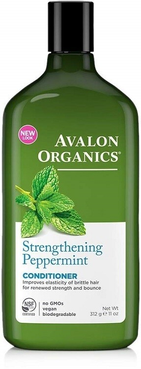 Avalon Organics Strengthening Peppermint Hair Conditioner, 11 Ounce