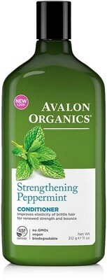 Avalon Organics Strengthening Peppermint Hair Conditioner, 11 Ounce