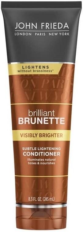 John Frieda Brilliant Brunette Visibly Brighter Subtle Lightening Hair Conditioner, 8.3 fl Ounce