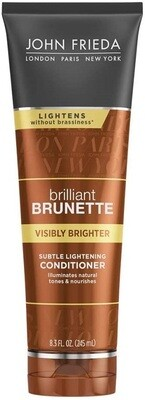 John Frieda Brilliant Brunette Visibly Brighter Subtle Lightening Hair Conditioner, 8.3 fl Ounce