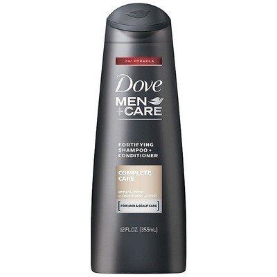 Dove Men Complete Care Hair Shampoo and Conditioner, 12 fl Ounce