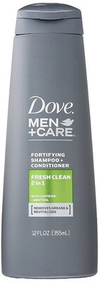 Dove Men Care Shampoo and Conditioner, Fresh and Clean, 12 fl Ounce