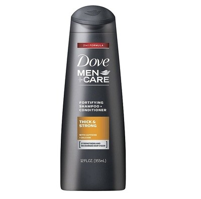 Dove Men Care Thick and Strong Fortifying Shampoo and Conditioner, 12 fl Ounce