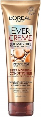 LOreal Paris EverCreme Deep Nourish Hair Conditioner with Apricot Oil, 8.5 fl Ounce