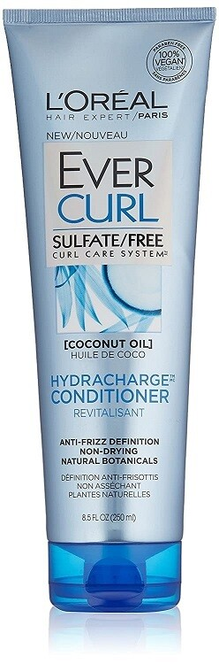LOreal Paris EverCurl Hydracharge Hair Conditioner, with Coconut Oil, 8.5 fl Ounce