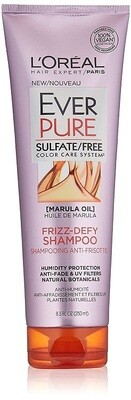 LOreal Paris EverPure Frizz-Defy Hair Shampoo, with Marula Oil, 8.5 fl Ounce