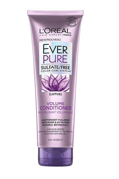 LOreal Paris EverPure Volume Hair Conditioner, with Lotus Flower, 8.5 fl Ounce