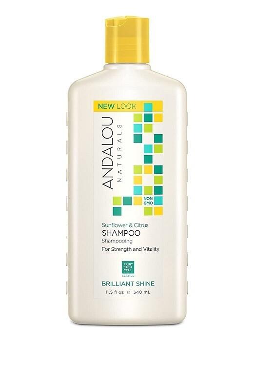 Andalou Naturals Sunflower and Citrus Brilliant Shine Shampoo, 11.5 Ounce
