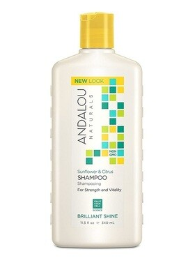 Andalou Naturals Sunflower and Citrus Brilliant Shine Shampoo, 11.5 Ounce