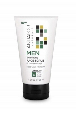 Andalou Naturals Men Exfoliating Face Scrub, 4.2 Ounce